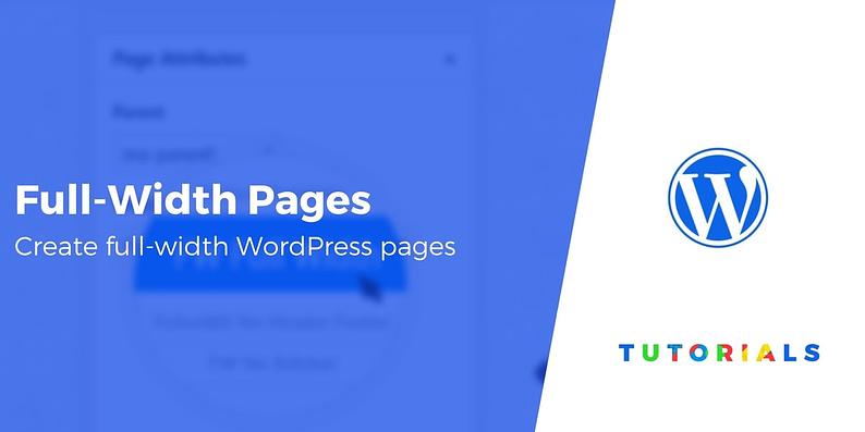 ull-Width Page in WordPress