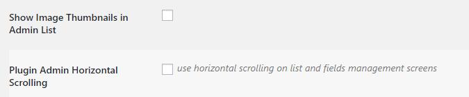 Enabling horizontal scrolling for your database.