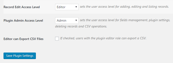 Limiting access to your database.