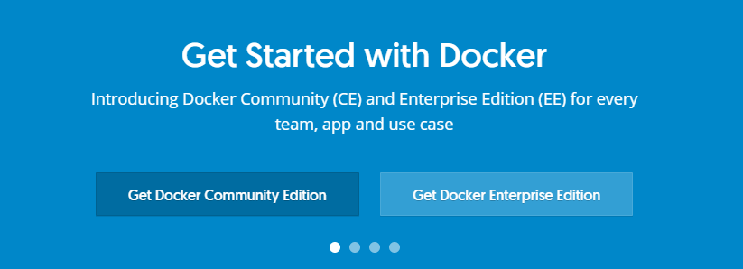 The Docker homepage.