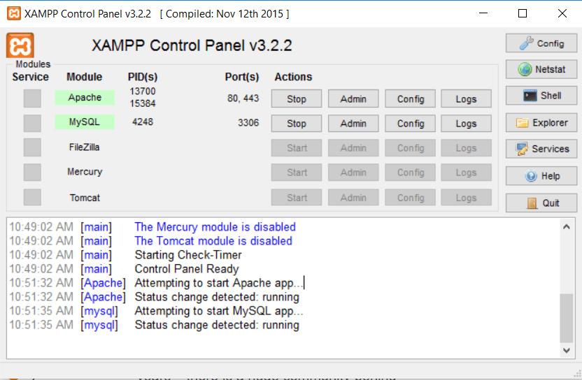database install