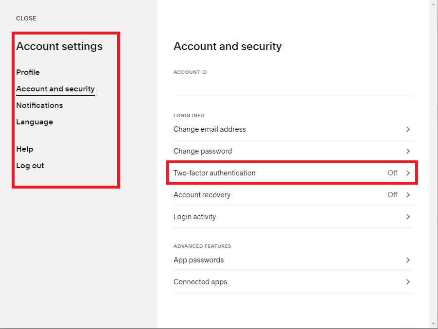 Turning on 2FA to secure a Squarespace website
