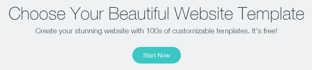 A screenshot from the Wix site.