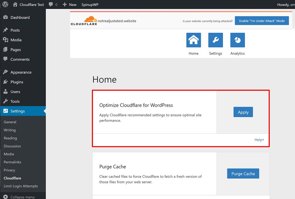 Optimize Cloudflare settings for WordPress