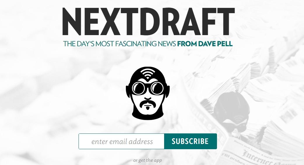next draft newsletter landing page