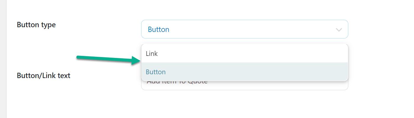 tipo de botão para WooCommerce solicitar um orçamento