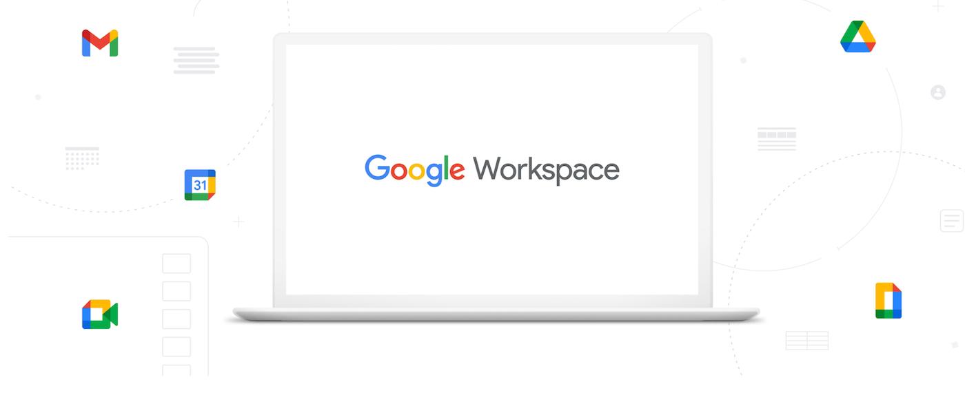O logotipo do Google Workspace.