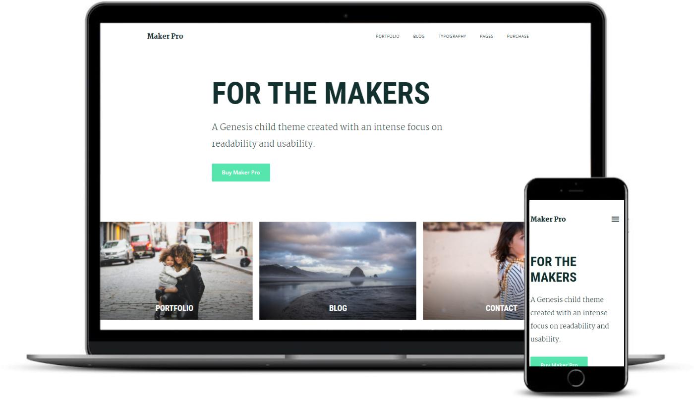 Maker Pro é de temas WordPress como Medium.