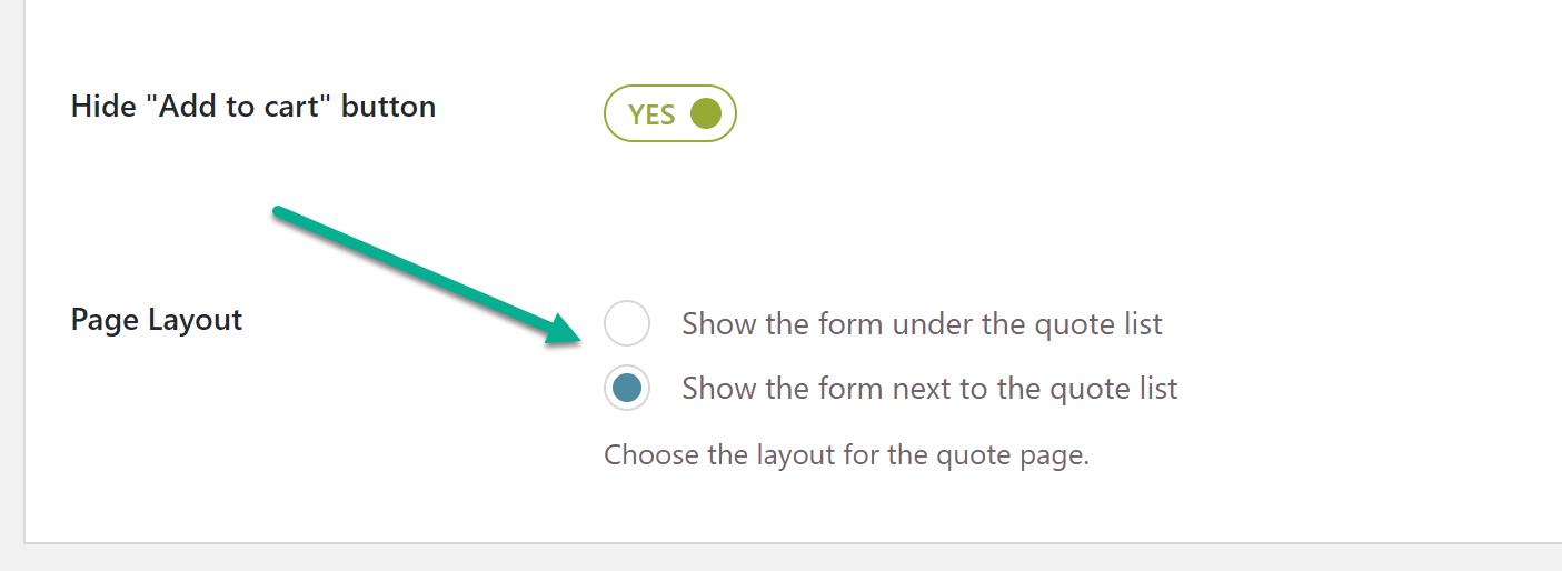 layout de página para WooCommerce solicitar um orçamento