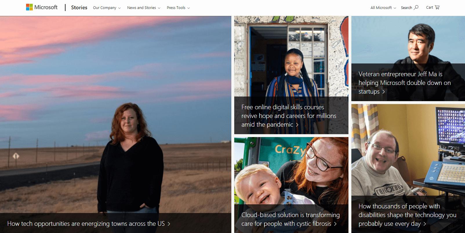 Diferença WordPress entre página e postagem - um exemplo de postagens de blog