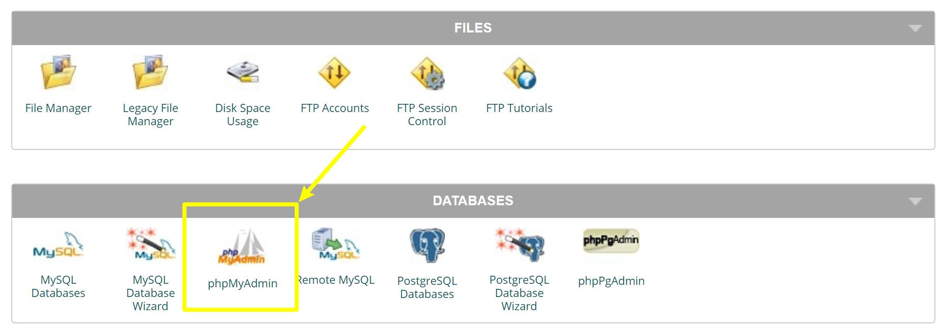 How to access phpMyAdmin