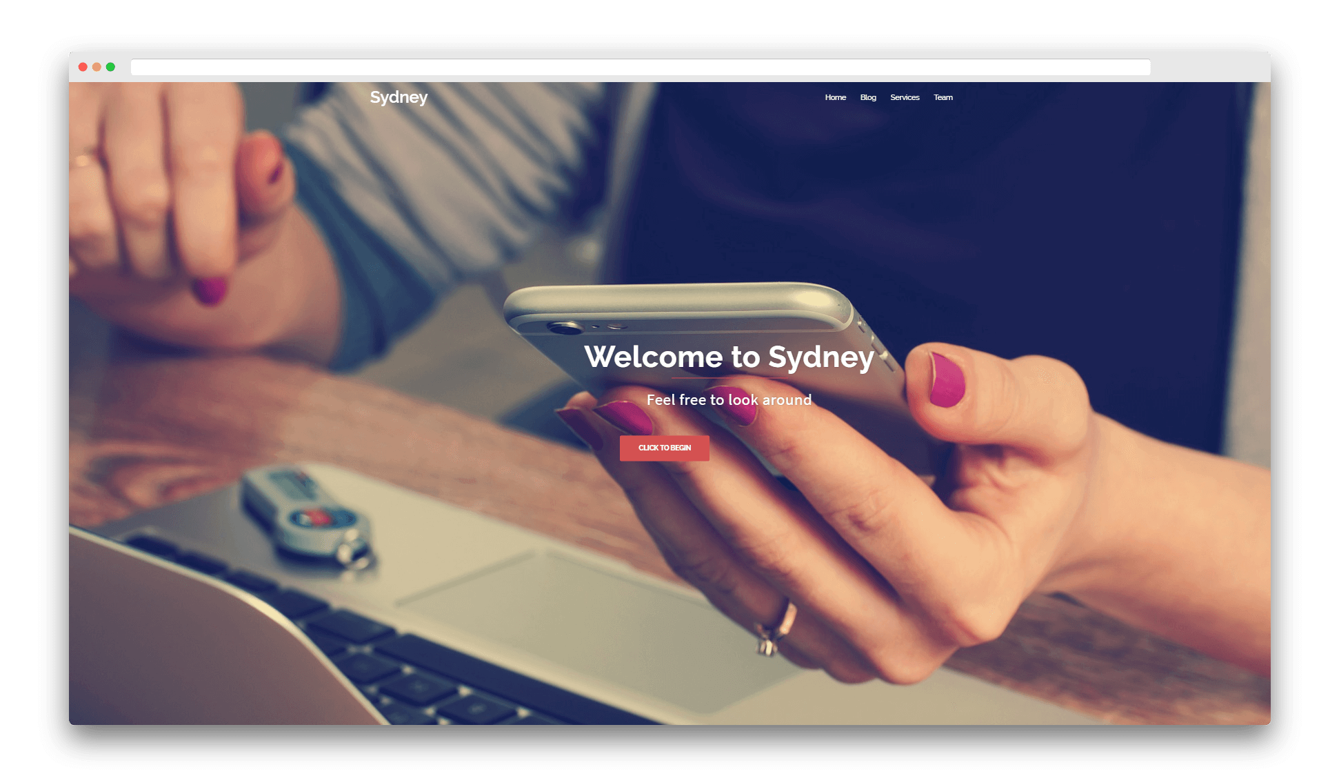 The Sydney theme demo, which works great with Elementor