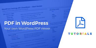 display a PDF in WordPress - WordPress PDF viewer
