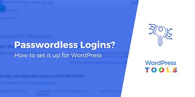 WordPress Passwordless login
