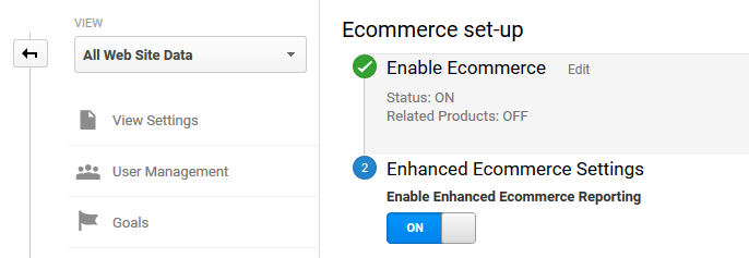Enabling enhanced e-commerce tracking for WooCommerce.