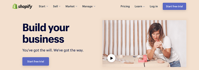 The Shopify eCommerce platform.
