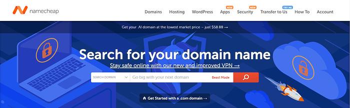 best domain registrars: Namecheap
