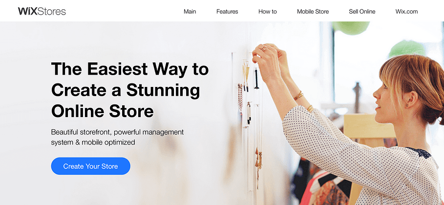 The Wix eCommerce platform.