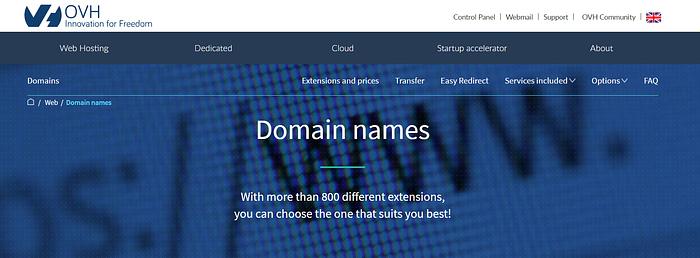 best domain registrars: OVH