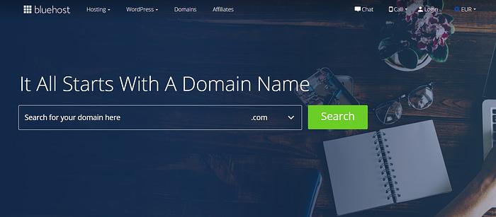 best domain registrars: Bluehost
