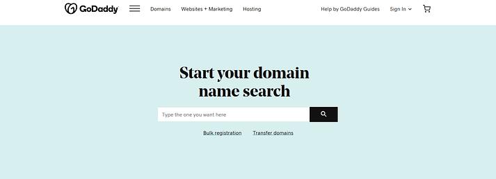 best domain registrars: GoDaddy