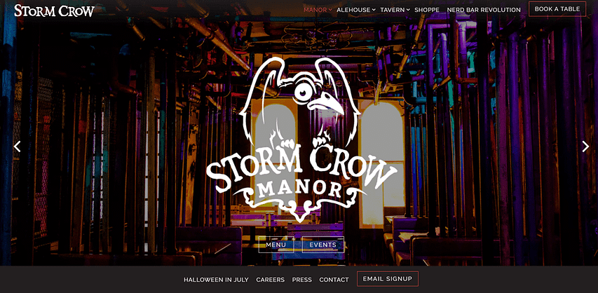 The Stormcrown Manner need a website to give a feel for its decor