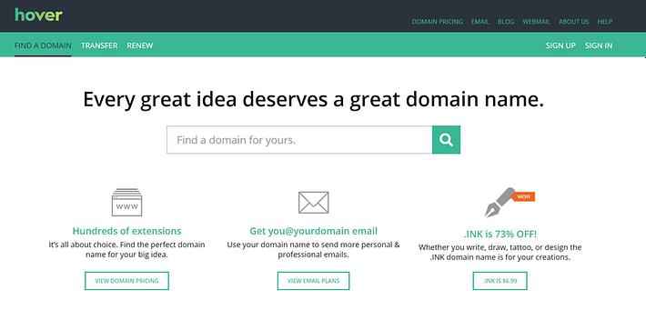 best domain registrars: Hover