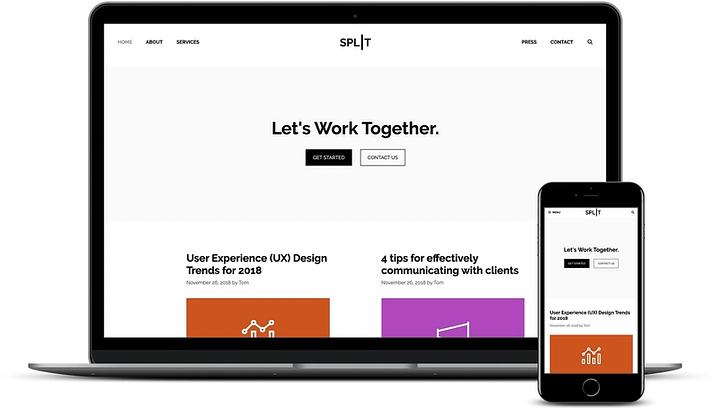 GeneratePress on desktop and mobile