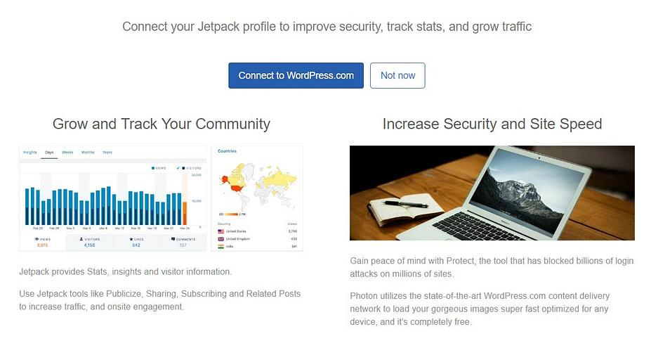 Bluehost QUick Launch Wizard wordt weergegeven nadat u WordPress hebt geïnstalleerd