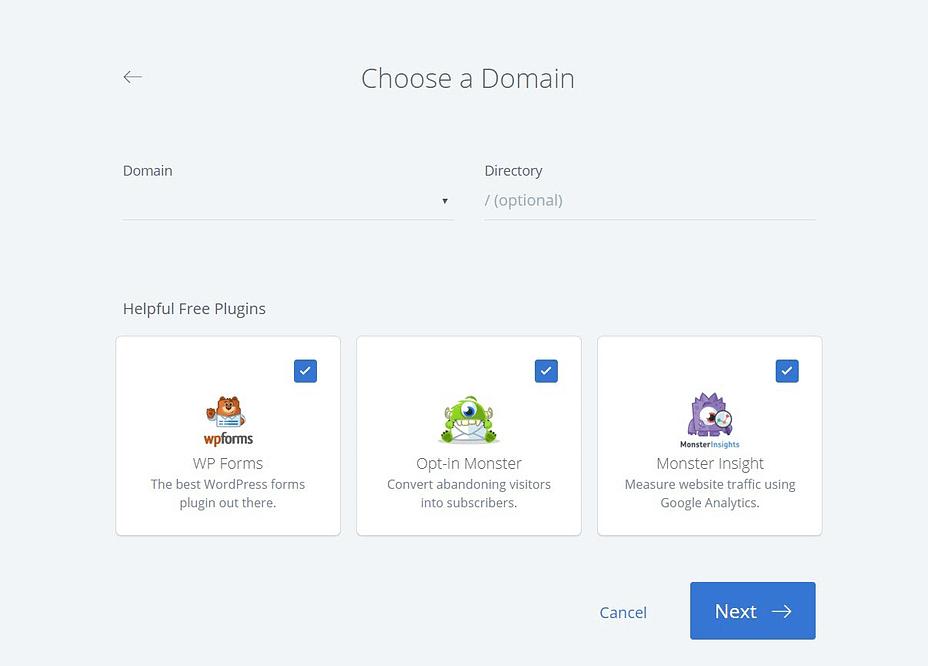 Kies een domein