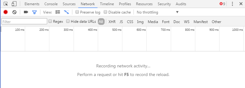 A screenshot of the Chrome Developer tools Network tab.