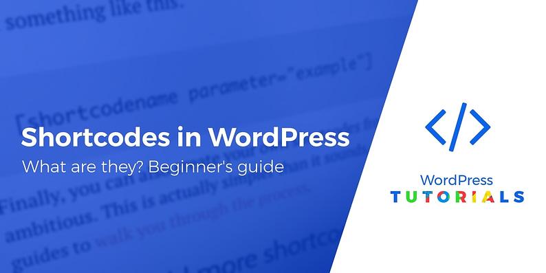 whatare shortcodes in WordPress