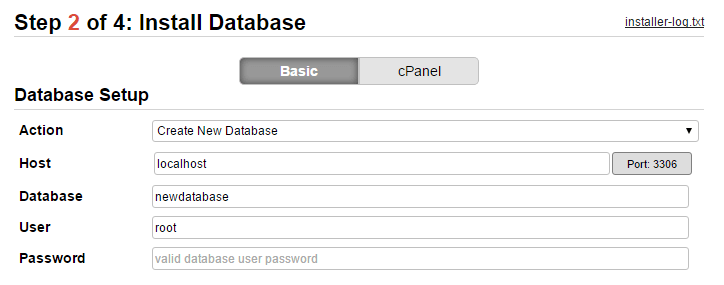 Configuring your database settings.