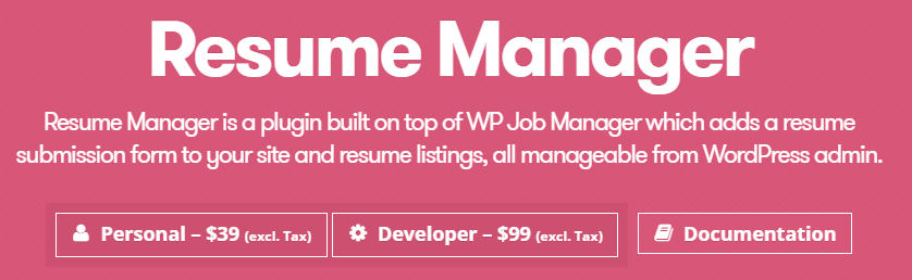 The Resume Manager extension can enhance your WordPress job board