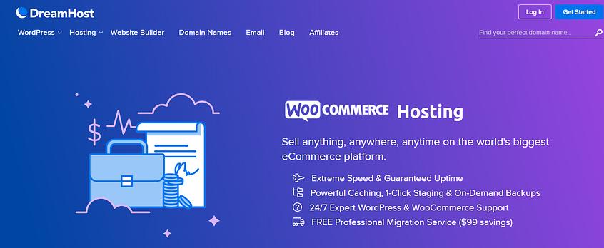 The DreamHost website.