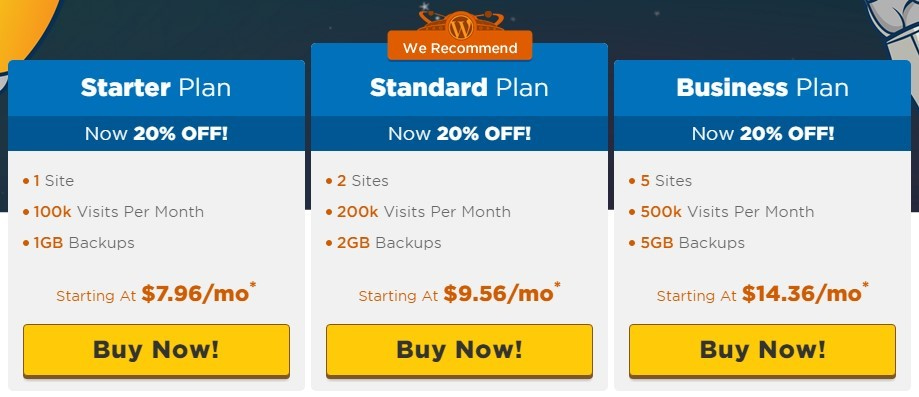 HostGator vs SiteGround: HostGator prices