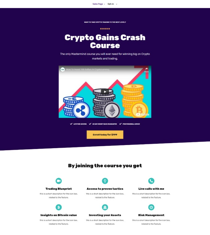Crypto Sales Funnel Featured Image