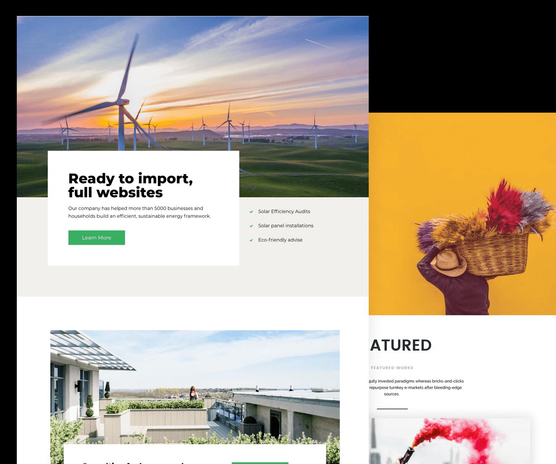 The Neve starter sites for WordPress