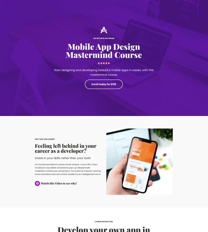 eCourse Web Design Featured Image