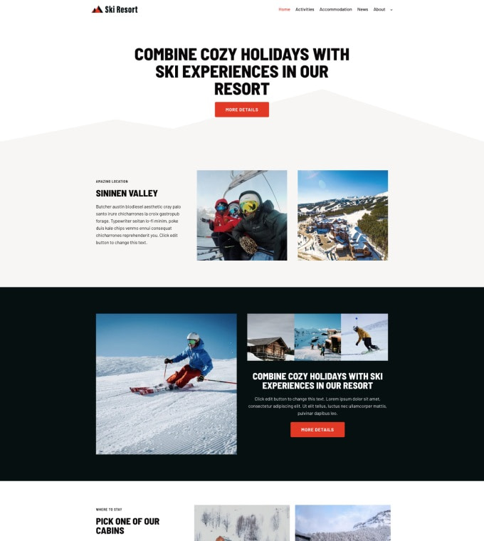 Ski Resort Winter Hotel Featured Image
