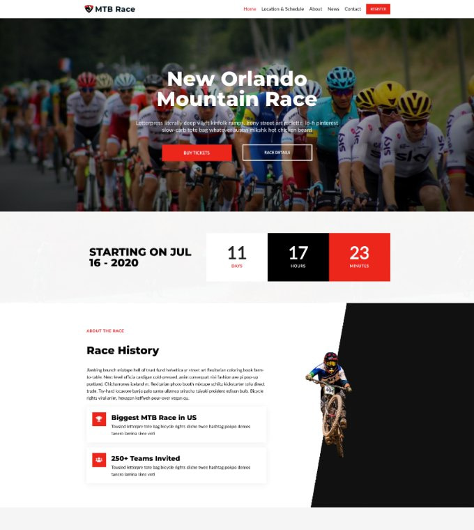 Mountain Bike Race Featured Image