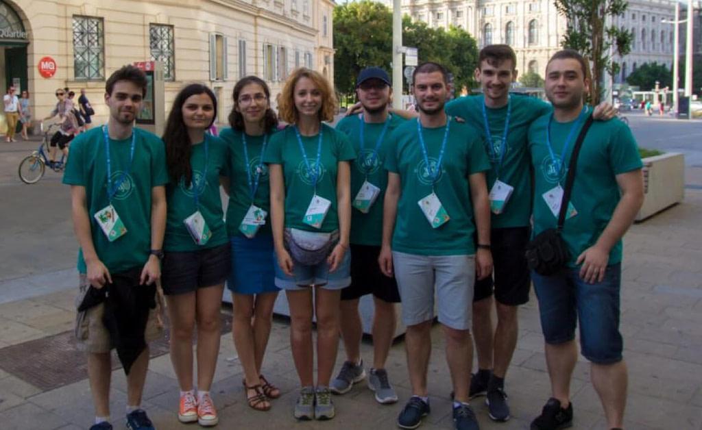 Team photo in Viena