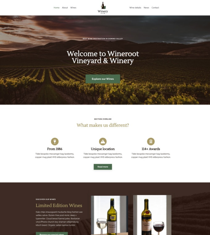 Winery Wine Shop Featured Image