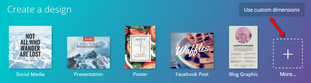 Select image template