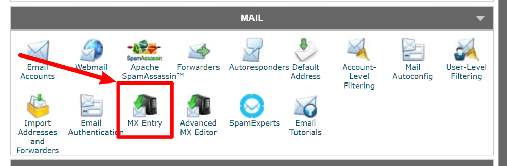 cPanel MX Entry tool