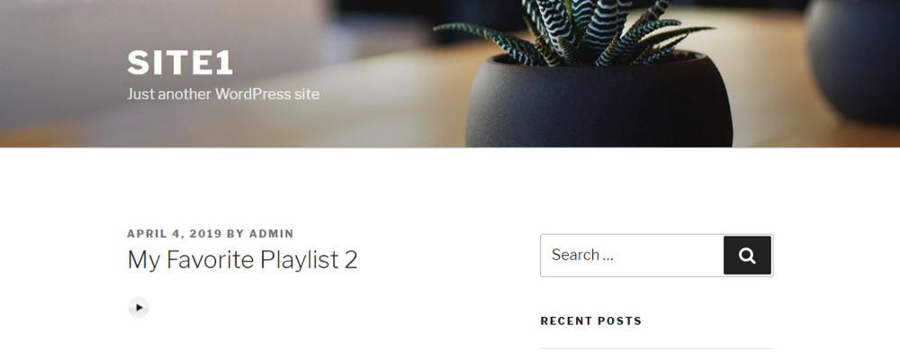 WordPress audio player plugins : Compact WP