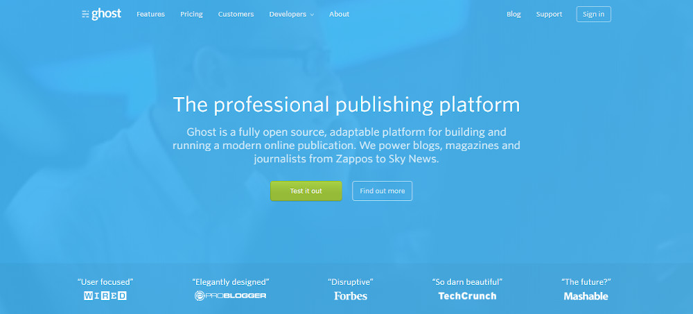 WordPress alternatives - Ghost
