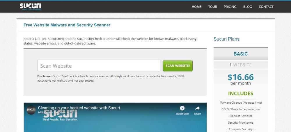 Sucuri SiteCheck Scanner