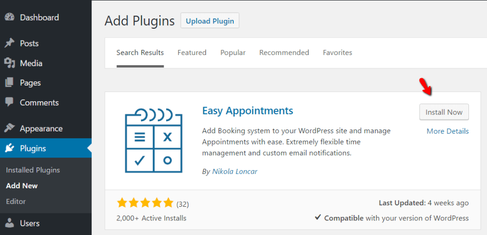 how to book appointments through WordPress