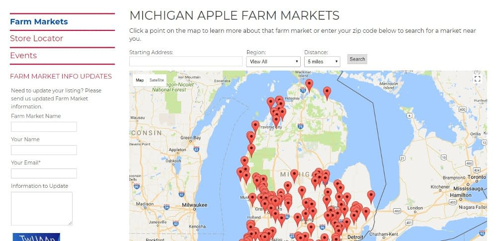 Michigan Apple Market